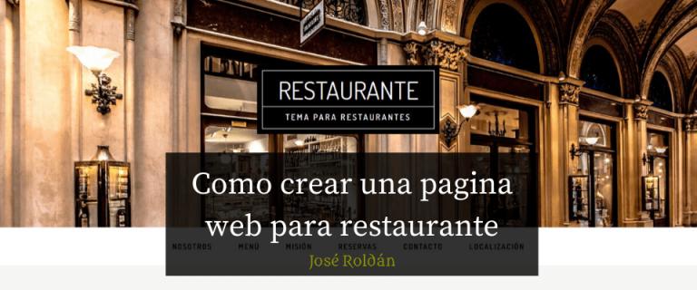 Como crear una pagina web para restaurante