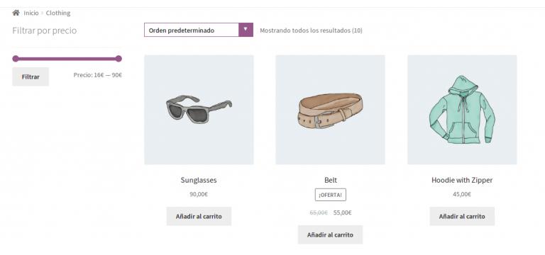 """Personalizar el menu  desplegable """"ordenar por"""" de Storefront"""
