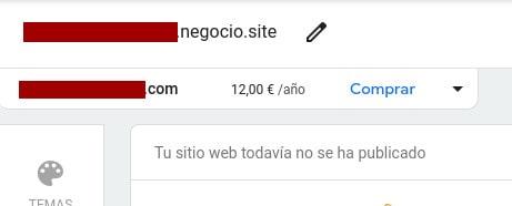 Comprar dominio en Google My Business