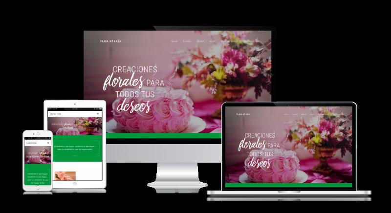 Página web para floristería